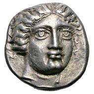 Caria. Rhodes. c. 408/7-404 BC. Tetradrachm, 15.09g. (h). Berend, Les tetradrachms de Rhodes de la premiere periode, SNR 51 (1972), p. 13, no. 24, pl. 2 (this coin). Ashton in Meadows & Shipton, Money and Its Uses in the Ancient Greek World, p. 99, no. 4. Struck in ultra high relief. Toned EF. Estimate: US$65000.