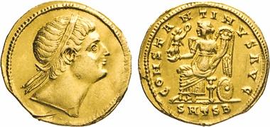 Los 232: Constantinus I, 307-337. Solidus, Thessalonica. RIC 131.
