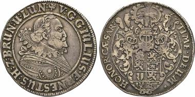 Los 677: Nebenlinie Dannenberg. Julius Ernst in Dannenberg, 1598-1636. Taler 1625, Mmz. Bartold. Bartels in Scharnebeck. W. 704. Fiala III 405. Bahrf. 146c. Knyph. 1776Var. Dav. 642 B.