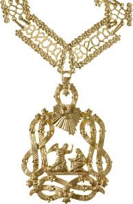 Annunziaten-Orden, Kollane mit anhängendem Kleinod und Bruststern. Rufpreis: 10.000 Euro, Verkaufspreis: 36.600 Euro.
