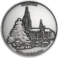 Silber-Weihnachtsthaler in Antik-Finish.