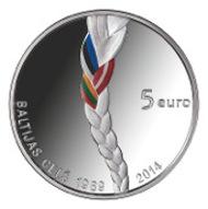 Latvia/ 5 EUR/ Silver .925/ 22 g/ 35 mm/ Designer: Visvaldis Asaris and Ligita Franckevica.