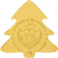 Palau, 1 Dollar, Gold .9999. 0,5 g, 11 mm, BU. Mintage: 15.000 pieces.