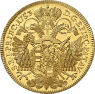Lot 405: GERMANY - PASSAU. Joseph Dominicus of Lamberg. 6 ducats 1753, Vienna, on his jubilee 50 years ordination of priest. Fb. 2073. Very rare. Extremely fine. Estimate: 50,000,- euros.