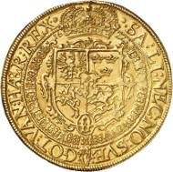 Nr. 665: POLEN - KÖNIGREICH. Sigismund III. 1/2 Portugalöser zu 5 Dukaten 1622, Vilnius für Litauen. Kopicki 3562 (R7). Äußerst selten. Vorzüglich. Taxe: 80.000,- Euro.