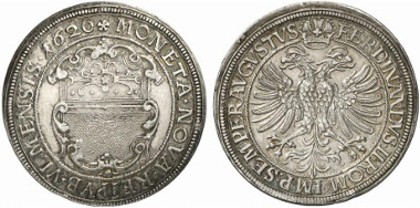 Ulm. Reichsthaler, 1620. Dav. 5903. From auction sale Künker 194 (2011), 3721.
