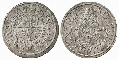 Bavaria. Maximilian I. Kipper-120 kreuzer (thaler), 1621, Munich. Hahn 78. From auction sale Künker 116 (2006), 4485.