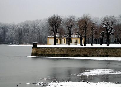 Schloss Moritzburg im Winter. Foto: Angela Graff.