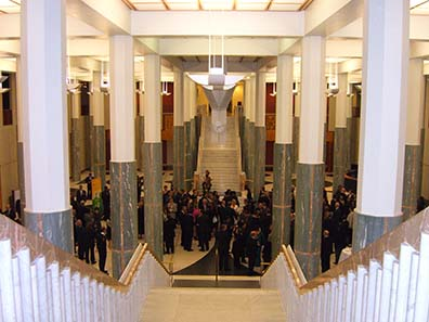 Reception at the Australian Parliament. Photo: Ursula Kampmann