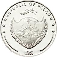 Palau, 5 Dollar, 2015, Silver .925, 1 oz. 38,61 mm, Proof. Mintage: 2015 pieces.