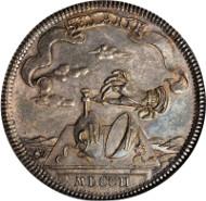 Medallic Brunswick-Wolfenbuttel Taler, 1702. Dav-2931; KM-641; Welter-2073b. NGC MS-61. Very rare. Estimate: $7,000.00 - $10,000.00.