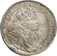 After the deposition as Polish King: Frederick August I, 1694-1733. Reichsthaler 1709, Dresden. Schnee 1005. Ex Horn Collection. From the upcoming Künker auction 258 on January 29, 2015. The piece has been estimated at 6,000 euros.