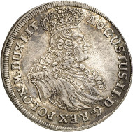 After the restitution as Polish King: POLAND. Frederick August I, 1694-1733. Reichsthaler 1702, Leipzig. Kopicki 2017. Ex Horn Collection. From the upcoming Künker auction 258 on January 29, 2015. The piece has been estimated at 2,500 euros.