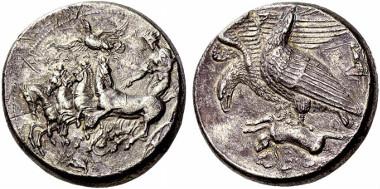 Sizilien, Akragas, Dekadrachmon, Zuschlag: 2.300.000,- SFR. NAC 66 (2012), 6.