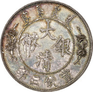 China, Hsuang Tung, 1908-1911, Probe-1 Dollar o.J. (1911), Tientsin, Zuschlag: 460.000,- Euro. Künker 180 (2011), 694.