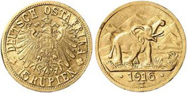 Deutsch-Ostafrika, 15 Rupien 1915, Tabora. © Künker.