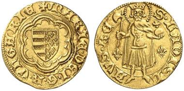 Ungarn, Maria von Anjou (1382-1387), Goldgulden o. J. (nach 1385), Kaschau, Zuschlag: 2.200,- Euro. Künker 244 (2014), 575.