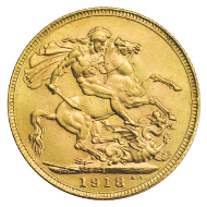 Indian Sovereign 1918.
