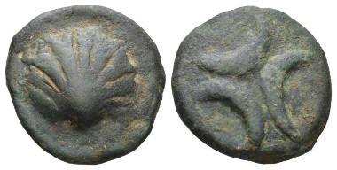 Apulia. Venusia Teruncius, 275-225. Haeberlin pl. 73, 3. Historia Numorum Italy 708. Very fine. Privately purchased from Bank Leu in August 1991. Ex NAC sale 78, 2014, 1915. Starting bid: £700.