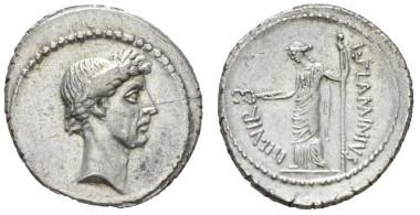 Roman Republic. L. Flaminius Chilo. Denarius 43. C 26. Crawford 485/1. Extremely Fine / Good Extremely Fine. Ex NAC sale 78, 2014, 739. Starting bid: £3,000.