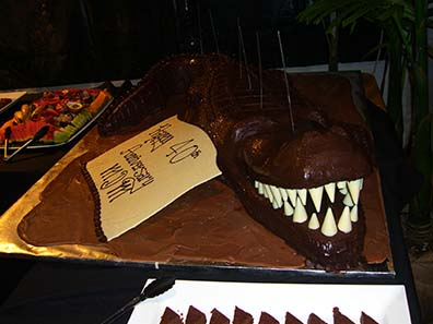 MDM's birthday cake. Photo: Ursula Kampmann