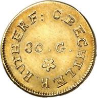 USA / NORTH CAROLINA. 1 dollar n. d. (1831-1834). CAROLINA GOLD. Issued by Christopher Bechtler. Fb. 7. Very rare. Auction sale Künker 258 (January 29, 2015), 811. Estimated at 10,000 euros.