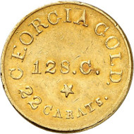 USA / GEORGIA. 5 dollars n. d. (1834-1837). GEORGIA GOLD. Issued by Christopher Bechtler. Fb. 9. Rare. Auction sale Künker 258 (January 29, 2015), 796. Estimated at 5,000 euros.