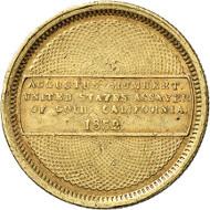 USA / CALIFORNIA. 10 dollars 1852. Assayer of Gold, Augustus Humbert, San Francisco. Fb. 33. Rare. Auction sale Künker 258 (January 29, 2015), 801. Estimated at 2,500 euros.
