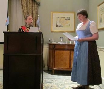 The swearing-in ceremony. Photo: David Sorenson.