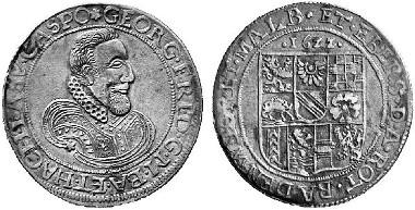 Baden. Baden-Durlach, Margraviate. George Frederick. Reichsthaler, 1622. Dav. 6045. From auction sale Künker 95 (2004), 3273.