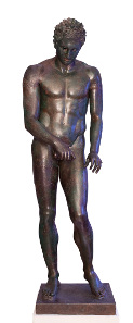 Apoxyomenos. Bronze, Hellenistic or Roman replica after a bronze original from the second quarter or the end of the 4th century BC. © Tourism Board of Mali Losinj.