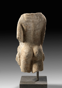 86: Torso of a kouros. Marble. Greek, 7th/6th century BC H. 49.5 cm.
