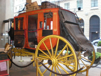The attack took place right in front of the exhibition's showpiece, a historical stagecoach of Wells Fargo from the 1860s. Photograph: © BrokenSphere / Wikimedia Commons / http://creativecommons.org/licenses/by-sa/3.0