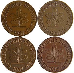 Frage 1: Welche der Münzen ist unbehandelt? Die Lösung finden Sie am Ende des Textes.