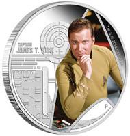 2015 Star Trek Coin Series - Captain James T. Kirk 1oz Silver Proof Coin. TM & © 2015 CBS. ARR.