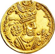 1958: Sassanid. Khusru II. 590-627 AD. 1 1/2 Gold Dinar.