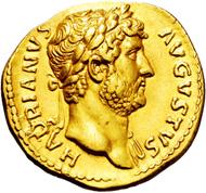 Imperial Rome. Hadrianus. 117-138 AD. Aureus.