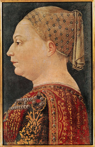 Bonifacio Bembo, Portrait of Maria Visconti, around 1460. Source: Wikicommons.