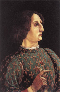 Piero del Pollaiuolo, portrait of Galeazzo Maria Sforza, around 1471. Source: Wikicommons.