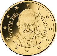 50 Cent-Vatikanmünze.