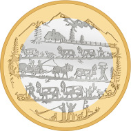 Switzerland / 2015 / 10 Franken / Cupronickel and Aluminium Bronze/ 15 g / Diameter: 33 mm / Design: Réhane Favereau, Chambésy / Mintage: 40,000.
