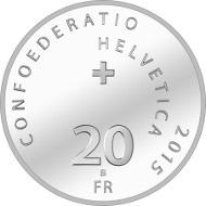Schweiz / 2015 / 20 Franken / Silber 0,835 / 20 g / Durchmesser: 33 mm / Design: José Requena, Martigny / Auflage: 5.000.