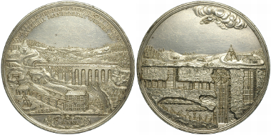 Freiberger Ausbeutemedaille von 1690 in Silber mit 80 mm Durchmesser. Bild: Roger Paul, Münzkabinett Staatliche Kunstsammlungen Dresden, Inv.-Nr.: BGB1242.
