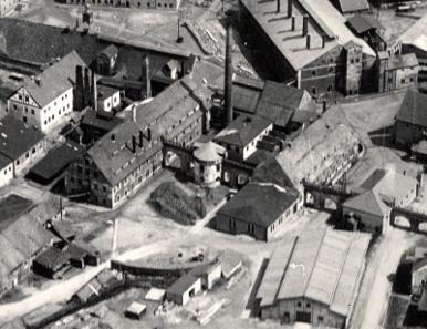 Bildausschnitt mit dem Amalgamierwerk um 1900. Bild: Jens Kugler, Kleinvoigtsberg.