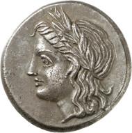 Lot 45: PANTIKAPEION (Taurian Chersonese). Tetradrachm, 355-320. Ex Gorny & Mosch 146 (2006), 84. Very rare. Extremely fine. Estimate: 15,000,- euros.