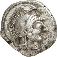 Lot 111: ATHENS (Attica). Tetradrachm, 500-483. About extremely fine. Estimate: 20,000,- euros.