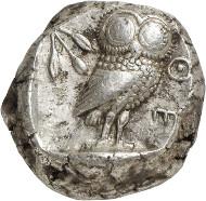 Nr. 111: ATHEN (Attika). Tetradrachme, 500-483. Fast vorzüglich. Taxe: 20.000,- Euro.