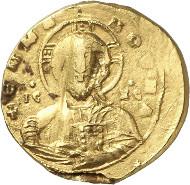 Lot 770: JOHN I TSIMISKES, 969-976. 2 solidi gold bulla. Unpublished unique specimen. Very fine. Estimate: 40,000,- euros.