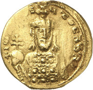 Nr. 770: JOHANNES I. TSIMISKES, 969-976. Goldbulla (zu 2 Solidi). Unpubliziertes Unikat. Sehr schön. Taxe: 40.000,- Euro.
