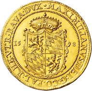 3005: Duchy of Bavaria. Maximilian of Bavaria I. 1598-1623. 8 ducats 1598.